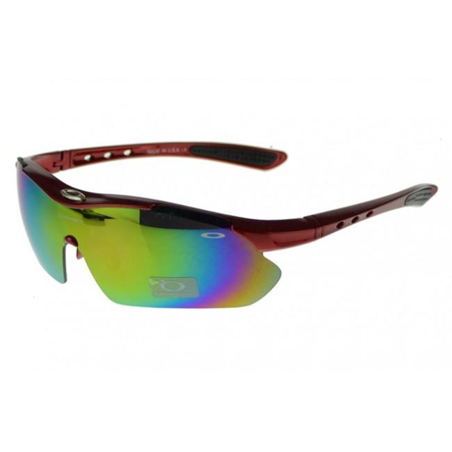 Oakley M Frame Sunglasses Red Frame Green Lens Factory Outlet Price