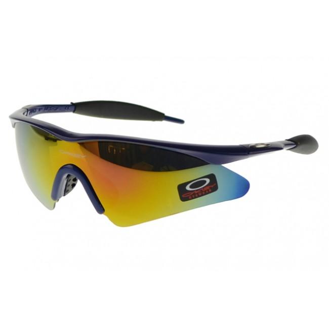 Oakley M Frame Sunglasses Blue Frame Yellow Lens USA
