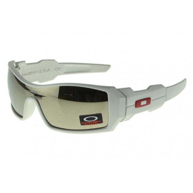Oakley Oil Rig Sunglasses White Frame Silver Lens Outlet Factory