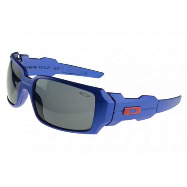 Oakley Oil Rig Sunglasses Blue Frame Gray Lens USA