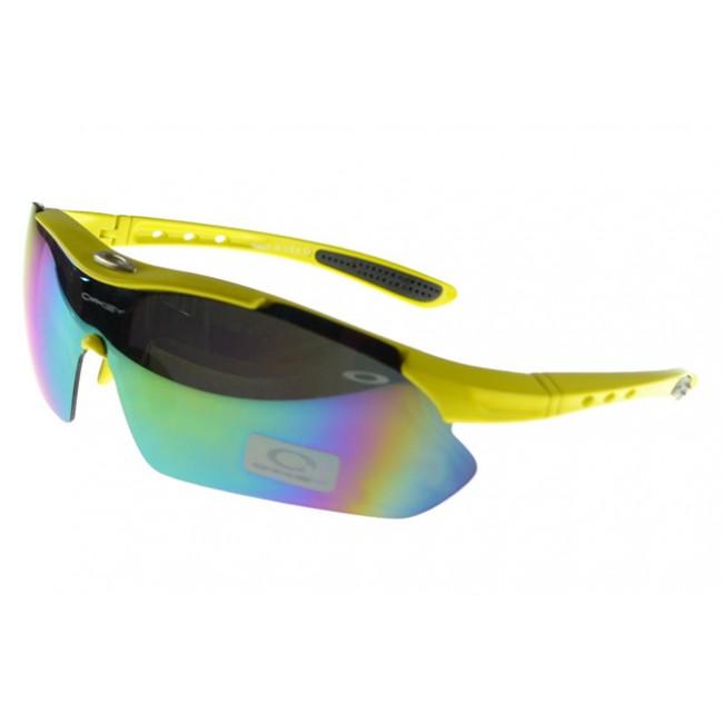 Oakley M Frame Sunglasses yellow Frame multicolor Lens Discount