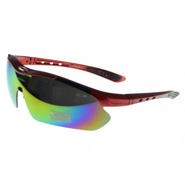 Oakley M Frame Sunglasses red Frame multicolor Lens Ireland