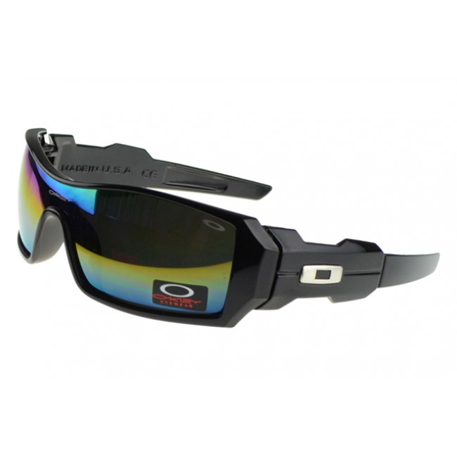 Oakley Oil Rig Sunglasses black Frame multicolor Lens Latest Fashion-Trends